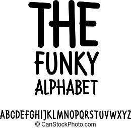 Hand written font. Vector alphabet