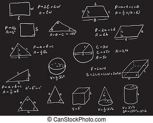 Hand Written Geometry Formulas