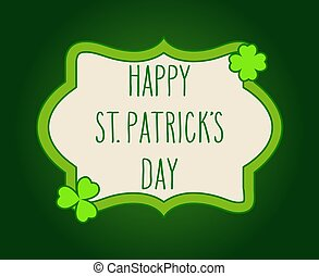 Hand written St. Patrick's day greetings