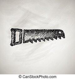 hand zag, pictogram