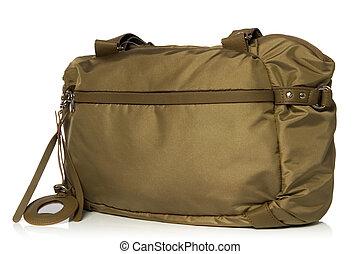 handbag - brown bag isolated over white background