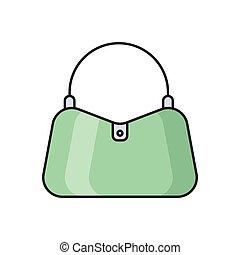 handbag  flat color icon