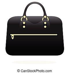 Handbag flat illustration on white
