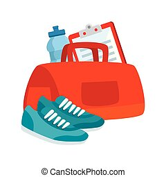 handbag gym with set icons