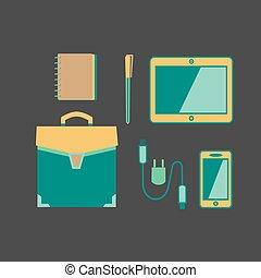 Handbag icon concept