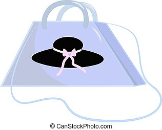 Handbag, illustration, vector on white background.