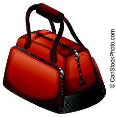 Handbag in brown color illustration