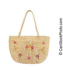 Handbag made from dry Water hyacinth
