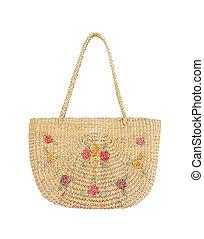 Handbag made from dry Water hyacinth