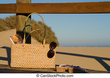 Handbag on the beach