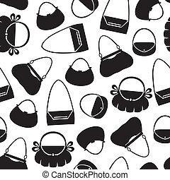 Handbag pattern seamless