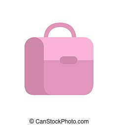 handbag school on white background