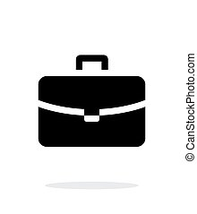 Handbag simple icon on white background.
