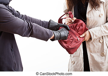 Handbag stealing