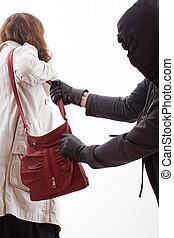 Handbag thief