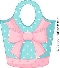 Handbag with a polka dot bow