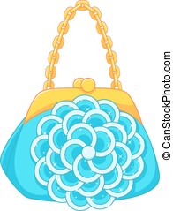 Handbag with the decor in the form of a flower