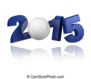 Handball 2015 design with a white background