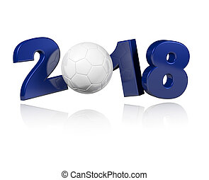 Handball 2018 Design with a white Background
