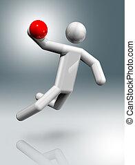 Handball 3D symbol, Olympic sports