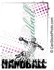 handball, cartaz, fundo
