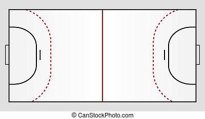 handball, chão