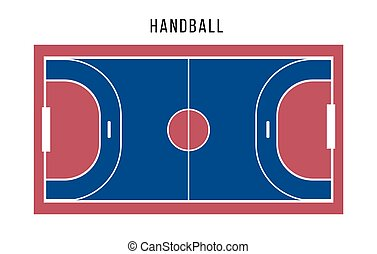 Handball court top view. Sports ground.