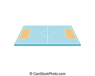 Handball court. View from above. Vector illustration on white background.