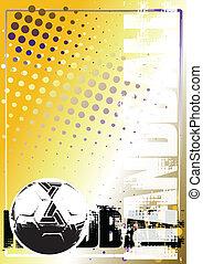 handball, dourado, cartaz, fundo