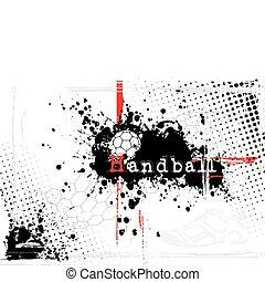 handball, dreckige , hintergrund