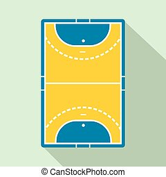 Handball field flat icon