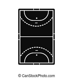 Handball field icon