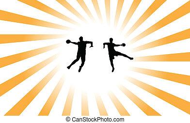 handball, fond