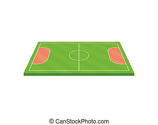 Handball ground with markup. View from above. Vector illustration on white background.