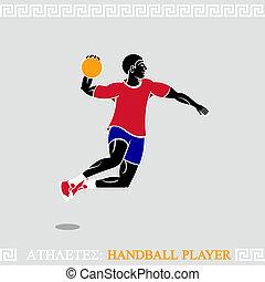 handball, jogador, atleta