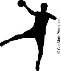 Handball Player Throw