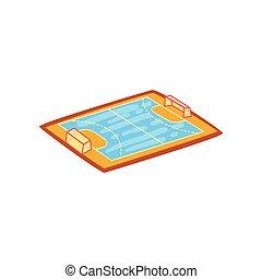 Handball stadium, sports ground vector Illustration on a white background