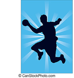 The picture shows an illustration of a handball player.
