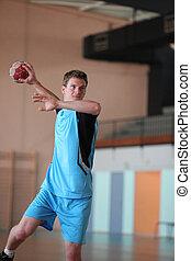 handballspieler, aktiv