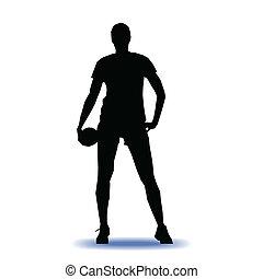 handballspieler, vektor, abbildung
