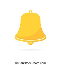 Handbell icon. Vector illustration.