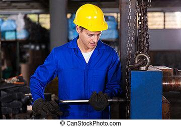 handbok, verkstad, arbetare, arbete