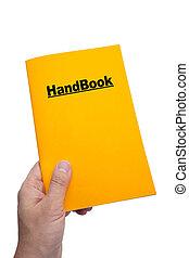 HandBook with white background