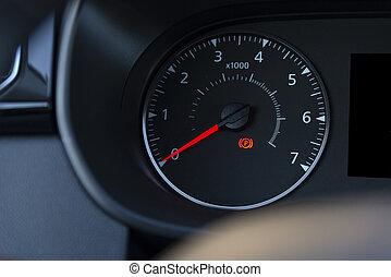 handbroms, nymodig, dashboard., antall, lätt, bil, ikon