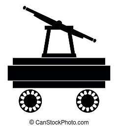 Handcar icon black color illustration flat style simple image