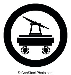 Handcar icon black color vector illustration simple image