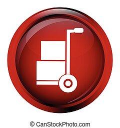 Handcart symbol vector illustration