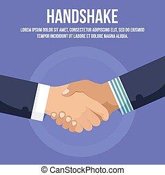 handclasp, of, schudden, zakenman, hand, handshaking