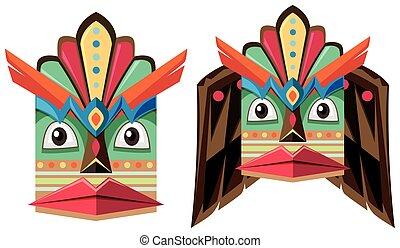 Handcraft mask made of wood