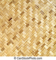 handcraft weave texture, native Thai style bamboo wall